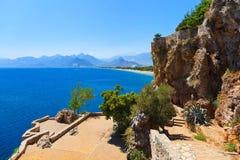 Παραλία σε Antalya Τουρκία Στοκ φωτογραφία με δικαίωμα ελεύθερης χρήσης