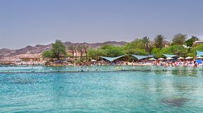Παραλία σε Eilat, Ισραήλ Στοκ φωτογραφία με δικαίωμα ελεύθερης χρήσης
