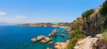 Παραλία σε Kaleici σε Antalya, Τουρκία Στοκ Εικόνα