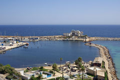 Παραλία σε Monastir, Τυνησία στην Αφρική Στοκ Φωτογραφία