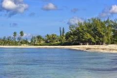 Παραλία σε Nassau, Μπαχάμες στοκ εικόνες