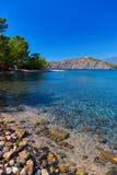 Παραλία σε Phaselis σε Antalya, Τουρκία Στοκ φωτογραφία με δικαίωμα ελεύθερης χρήσης