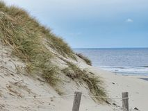 Παραλία/σκέλος σε Terschellling στοκ εικόνα