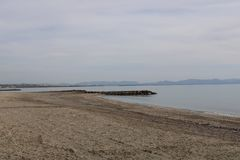 Παραλία στην ακτή της Ισπανίας στοκ εικόνες