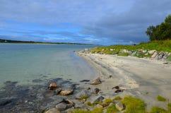 Παραλία στη Νορβηγία Στοκ Φωτογραφίες