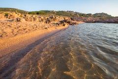 Παραλία στη πλευρά Paradiso, Σαρδηνία, Ιταλία Στοκ Φωτογραφία