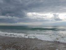 Παραλία στον Ατλαντικό Ωκεανό στην ατλαντική παραλία, NC Στοκ εικόνα με δικαίωμα ελεύθερης χρήσης