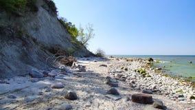 Παραλία στο εθνικό πάρκο Wolin στη δυτική Πολωνία Στοκ Εικόνες
