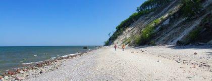 Παραλία στο εθνικό πάρκο Wolin στη δυτική Πολωνία Στοκ φωτογραφίες με δικαίωμα ελεύθερης χρήσης