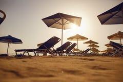 Παραλία στο θέρετρο το καλοκαίρι Στοκ φωτογραφία με δικαίωμα ελεύθερης χρήσης