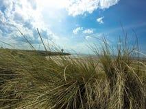 Παραλία στο Λίβερπουλ με το lighthout και τον όμορφο ουρανό στοκ φωτογραφία με δικαίωμα ελεύθερης χρήσης