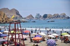 Παραλία στο Περού Παραλία στο επιδόρπιο στοκ φωτογραφία με δικαίωμα ελεύθερης χρήσης