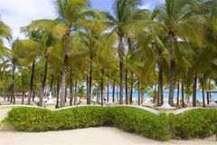 Παραλία στο Playa del Carmen, Μεξικό Στοκ Φωτογραφίες