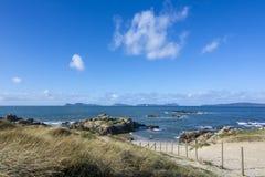 Παραλία της ακτής του Vigo Στοκ Φωτογραφία
