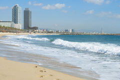 παραλία της Βαρκελώνης στοκ φωτογραφίες