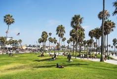 Παραλία της Βενετίας, θερινή ημέρα - στο στις 12 Αυγούστου 2017 - παραλία της Βενετίας, Λος Άντζελες, Λα, Καλιφόρνια, ασβέστιο Στοκ εικόνα με δικαίωμα ελεύθερης χρήσης