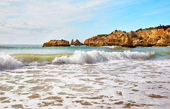 Παραλία του Αλγκάρβε, Πορτογαλία Στοκ εικόνες με δικαίωμα ελεύθερης χρήσης