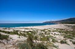 Παραλία του Κασκάις στην Πορτογαλία, Ευρώπη στοκ εικόνες με δικαίωμα ελεύθερης χρήσης