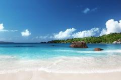 Παραλία του Λάτσιο Anse στο νησί Praslin Στοκ Εικόνα