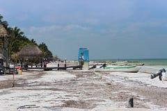 Παραλία του τροπικού νησιού holbox, roo quintana, Μεξικό στοκ φωτογραφία με δικαίωμα ελεύθερης χρήσης