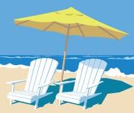 παραλία τροπική διανυσματική απεικόνιση