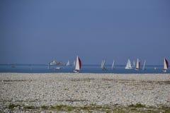 Παραλία χαλικιών της Χάβρης Γαλλία Στοκ Φωτογραφίες