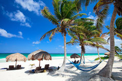 παραλία όμορφες Καραϊβικέ& Στοκ φωτογραφία με δικαίωμα ελεύθερης χρήσης