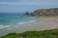 Παραλία Adegas Praia κοντά σε Carrapateira, Πορτογαλία Στοκ Φωτογραφίες