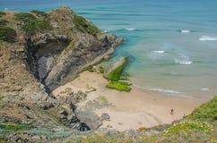 Παραλία Adegas Praia κοντά σε Carrapateira, Πορτογαλία Στοκ φωτογραφίες με δικαίωμα ελεύθερης χρήσης