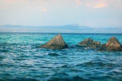 Παραλία Afytos, Ελλάδα Στοκ εικόνα με δικαίωμα ελεύθερης χρήσης