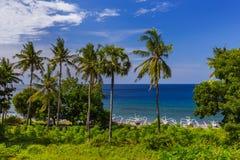 Παραλία Amed - νησί Ινδονησία του Μπαλί Στοκ Φωτογραφίες