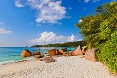 Παραλία Anse Λάτσιο - Σεϋχέλλες Στοκ εικόνες με δικαίωμα ελεύθερης χρήσης