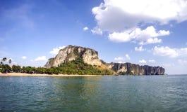 Παραλία AO Nang από τη θάλασσα, Krabi Στοκ Εικόνες