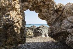 Παραλία Aphrodite - του tou Romiou, της Petra oast Ñ  της Κύπρου Στοκ εικόνα με δικαίωμα ελεύθερης χρήσης