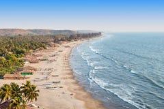 Παραλία Arambol, Goa Στοκ φωτογραφία με δικαίωμα ελεύθερης χρήσης