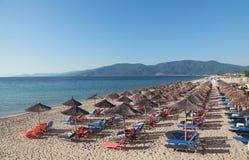 παραλία asprovalta στοκ εικόνες
