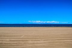 Παραλία Ayr και το νησί Arran Στοκ εικόνα με δικαίωμα ελεύθερης χρήσης