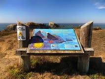 Παραλία Bandon, φυσική ακτή του Όρεγκον στοκ εικόνα