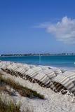 παραλία cabanas Στοκ Εικόνες