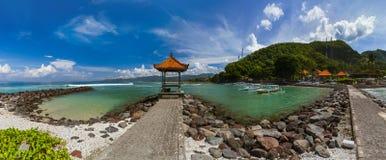 Παραλία Candidasa - νησί Ινδονησία του Μπαλί Στοκ φωτογραφία με δικαίωμα ελεύθερης χρήσης
