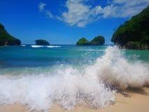Παραλία Cina Goa στοκ εικόνα