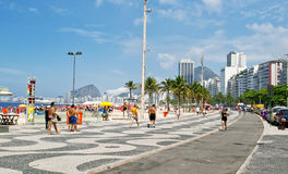 Παραλία Copacabana στο Ρίο ντε Τζανέιρο στοκ εικόνες με δικαίωμα ελεύθερης χρήσης