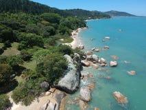 Παραλία Correa AntÃ'nio - Governador Celso Ramos SC Στοκ Φωτογραφίες