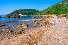 Παραλία DA Arrabida Portinho στο Parque φυσικό Στοκ φωτογραφία με δικαίωμα ελεύθερης χρήσης