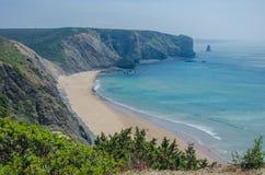 Παραλία DA Arrifana Praia κοντά σε Aljezur, Πορτογαλία Στοκ εικόνα με δικαίωμα ελεύθερης χρήσης