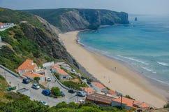 Παραλία DA Arrifana Praia κοντά σε Aljezur, Πορτογαλία Στοκ φωτογραφίες με δικαίωμα ελεύθερης χρήσης