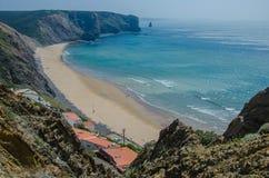 Παραλία DA Arrifana Praia κοντά σε Aljezur, Πορτογαλία Στοκ Εικόνες