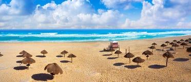Παραλία Delfines Cancun στη ζώνη Μεξικό ξενοδοχείων Στοκ Εικόνες
