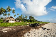 Παραλία Diani στην Κένυα Όμορφη άποψη του παλαιού W στοκ φωτογραφία