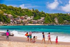 Παραλία Dreamland, Μπαλί, Ινδονησία - το Μάρτιο του 2015 στοκ φωτογραφίες